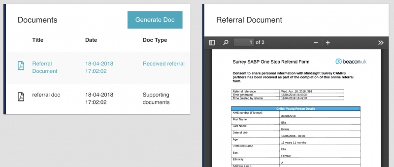 Referral document library